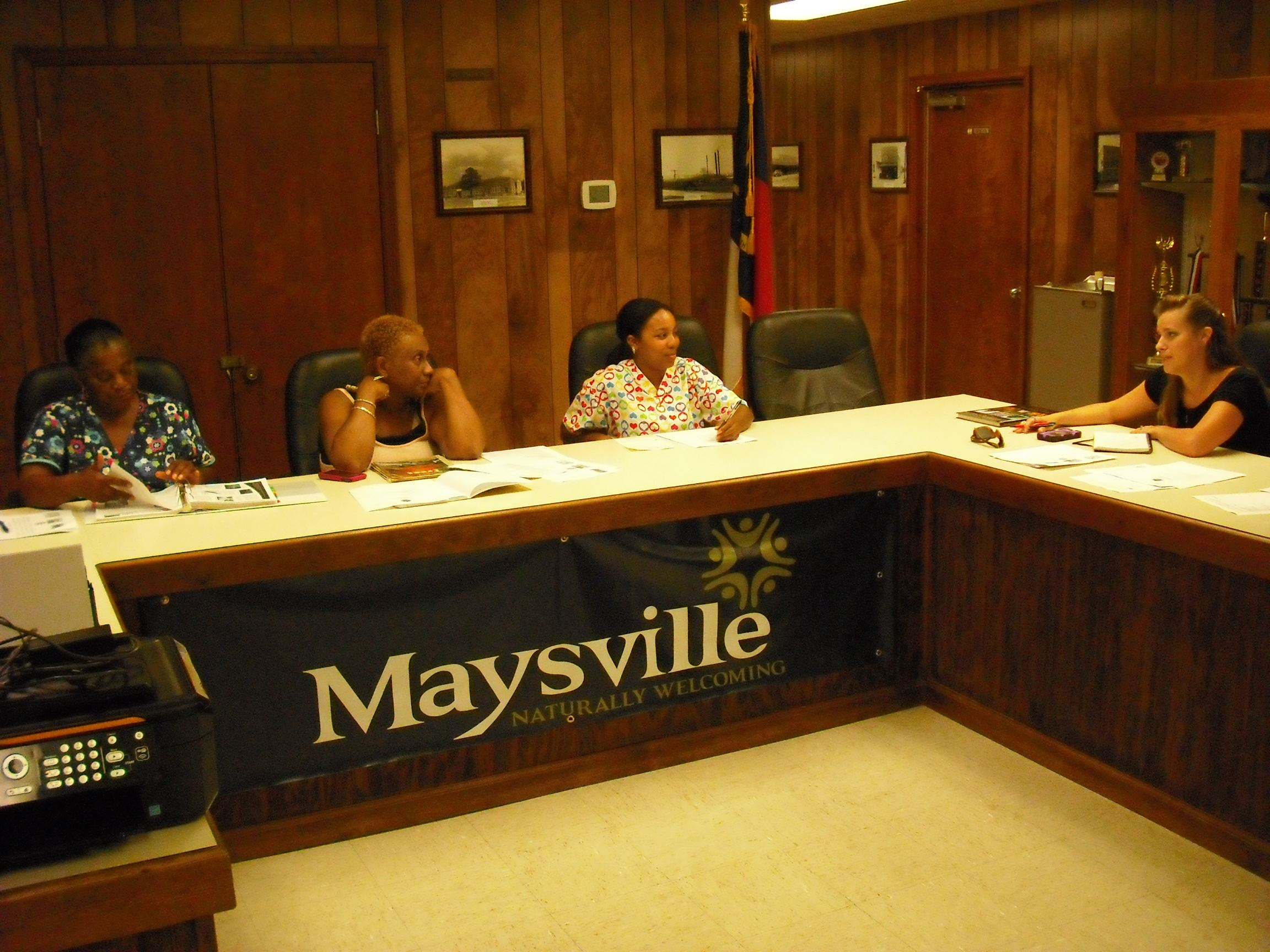Maysville Tree Board at a meeting